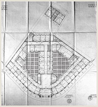 Основа првог спрата, архивски план, 1932.